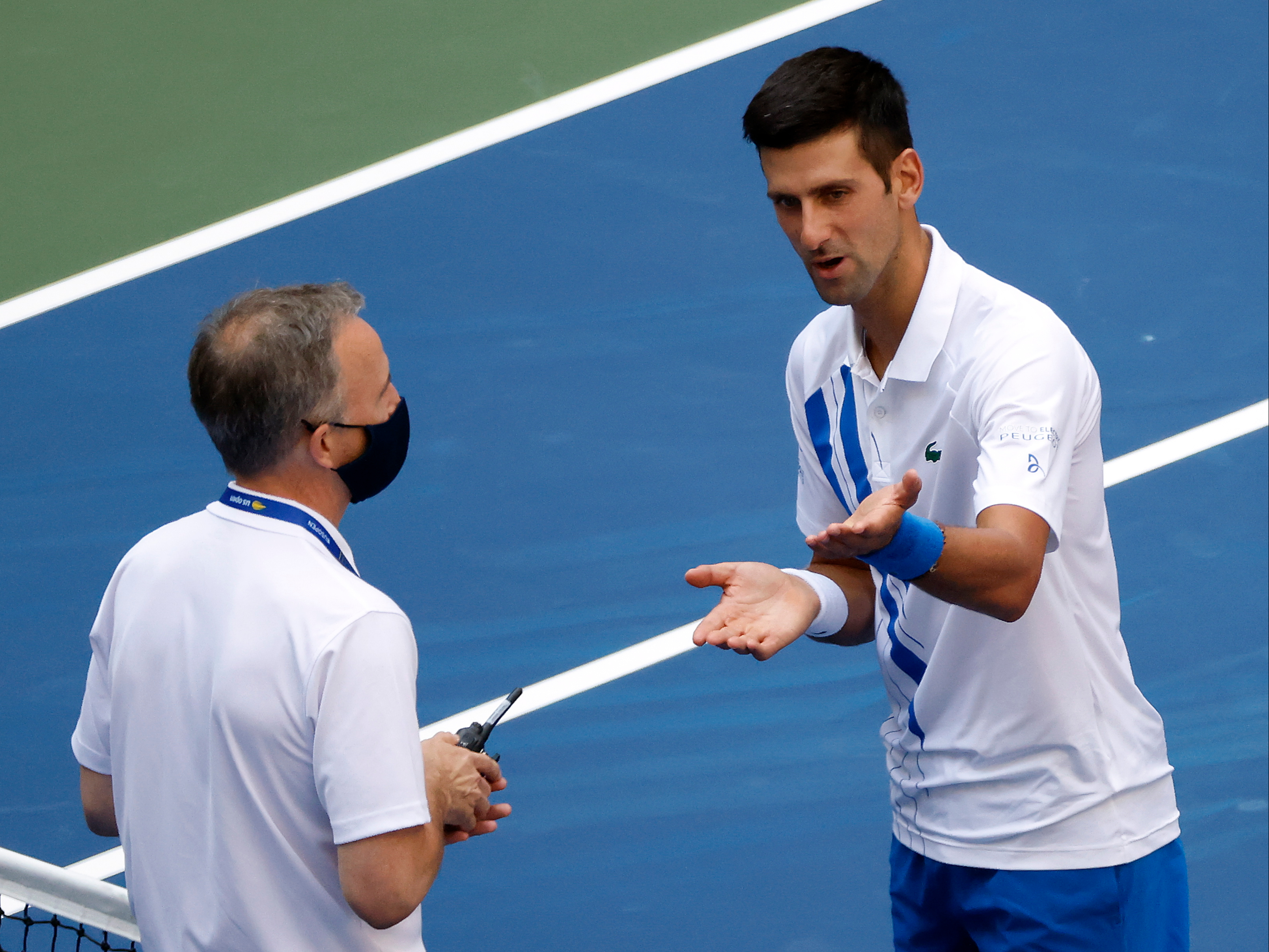 Novak Djokovic Apologises Following Us Open Disqualification After Hitting Ball At Line Judge The Independent