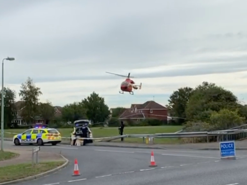 Kesgrave shooting: Helicopter images show police investigation