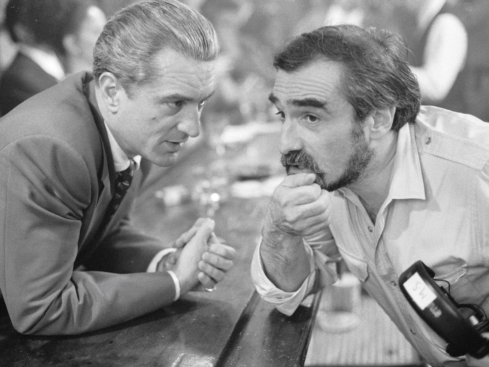 Martin Scorsese directs Robert De Niro on the 'Goodfellas' set