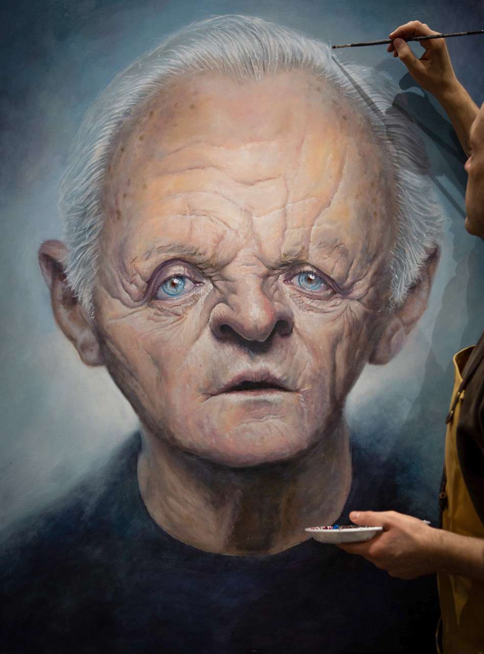 The illusionist's portrait of Anthony Hopkins
