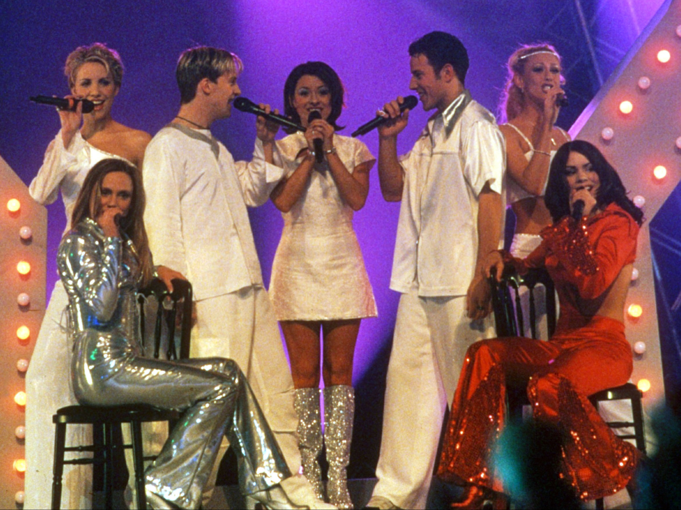 Steps performing at the Brit Awards in 1999 with B*Witched and Billie