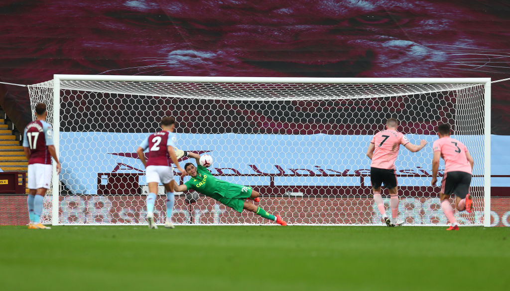 Martinez saved a penalty on his Aston Villa debut