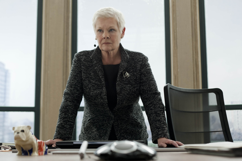 Judi Dench as M in the 2012 Bond thriller 'Skyfall'