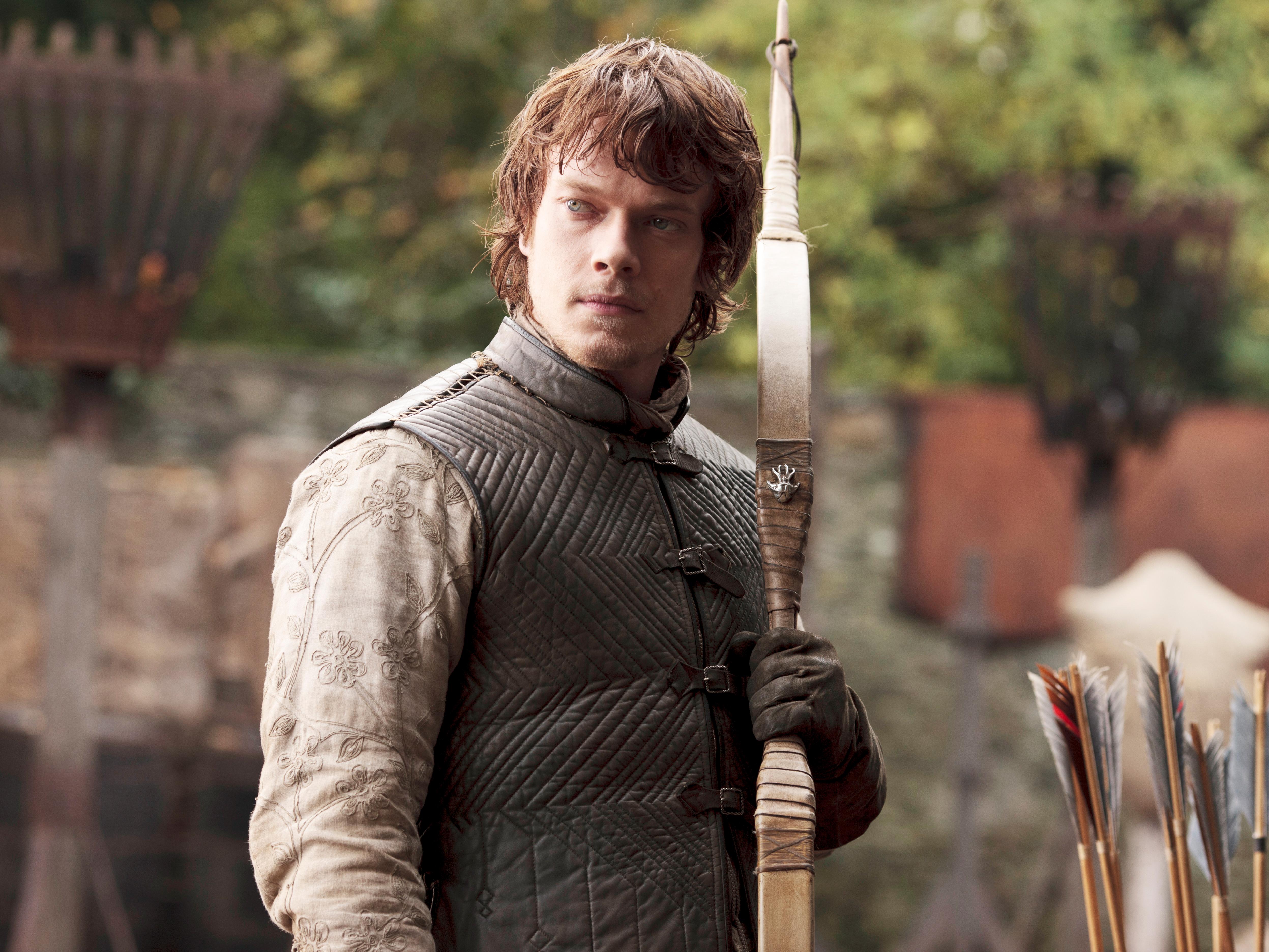 Alfie Allen as the wolf-hating Theon Greyjoy in season one of 'Game of Thrones'