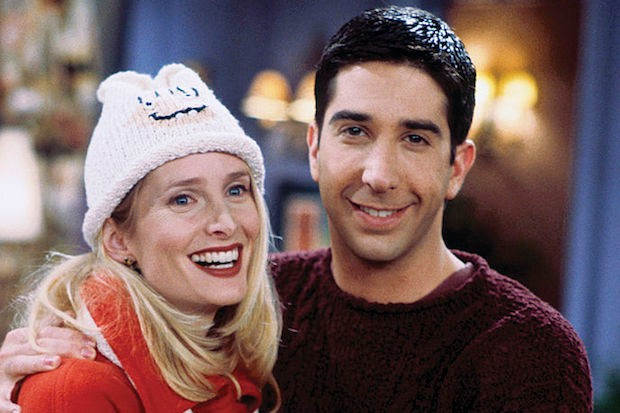 Jane Sibbett and David Schwimmer in 'Friends'
