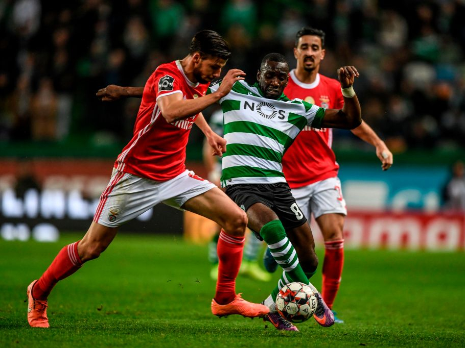 Yannick Bolasie in action with Sporting