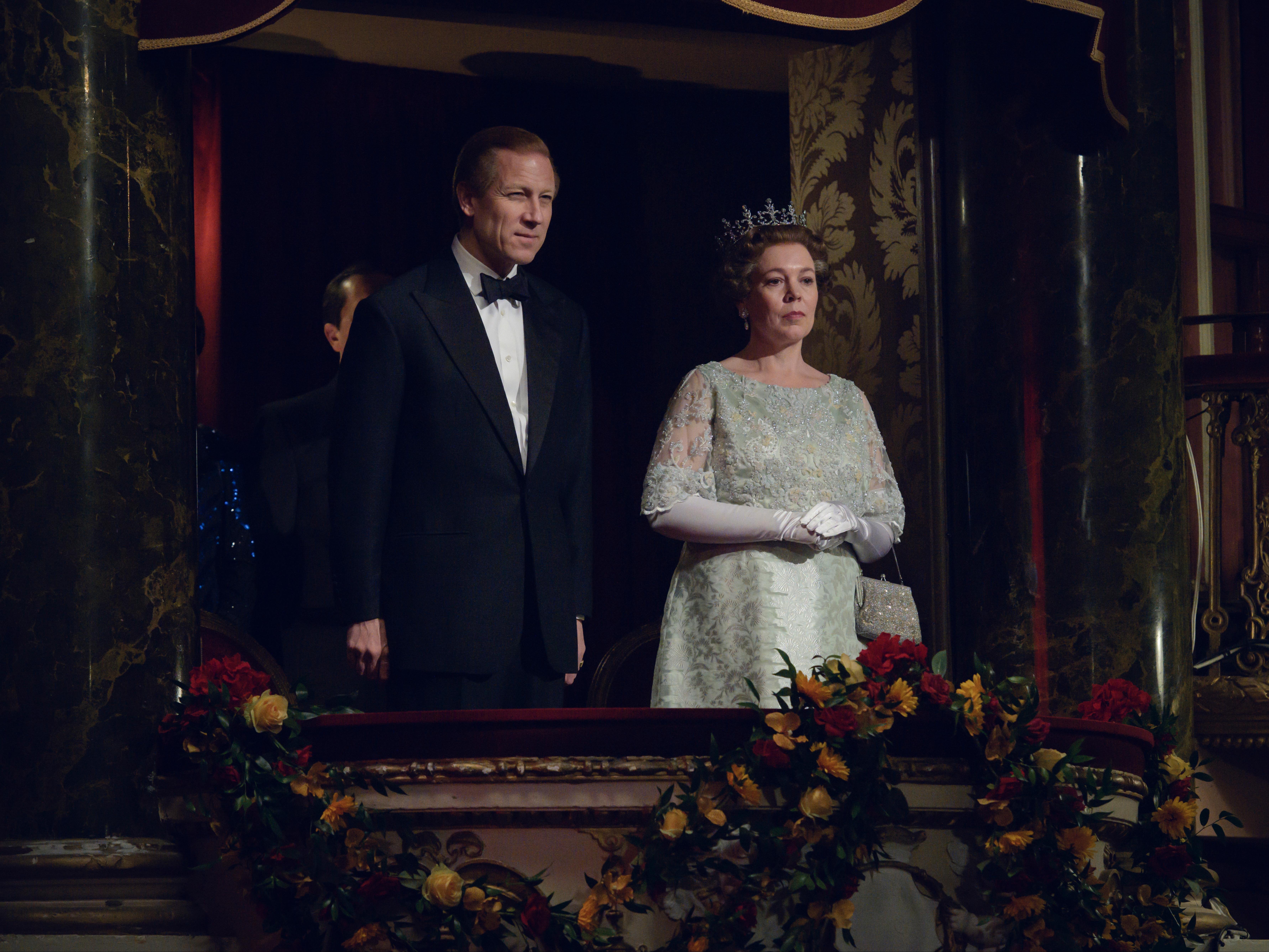 Le prince Philip (Tobias Menzies) et la reine Elizabeth II (Olivia Colman) dans 'The Crown'